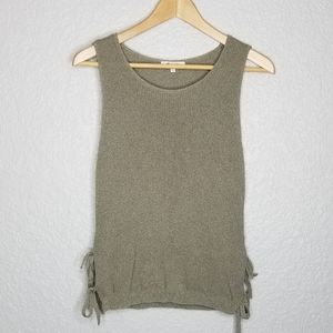 Madewell Side Tie Sweater Tank Top XS